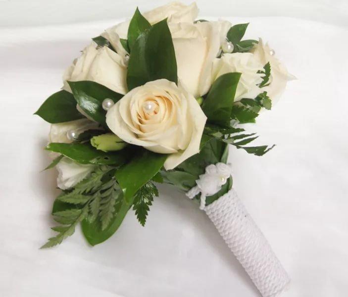 Где, букет из белых роз свадебный фото