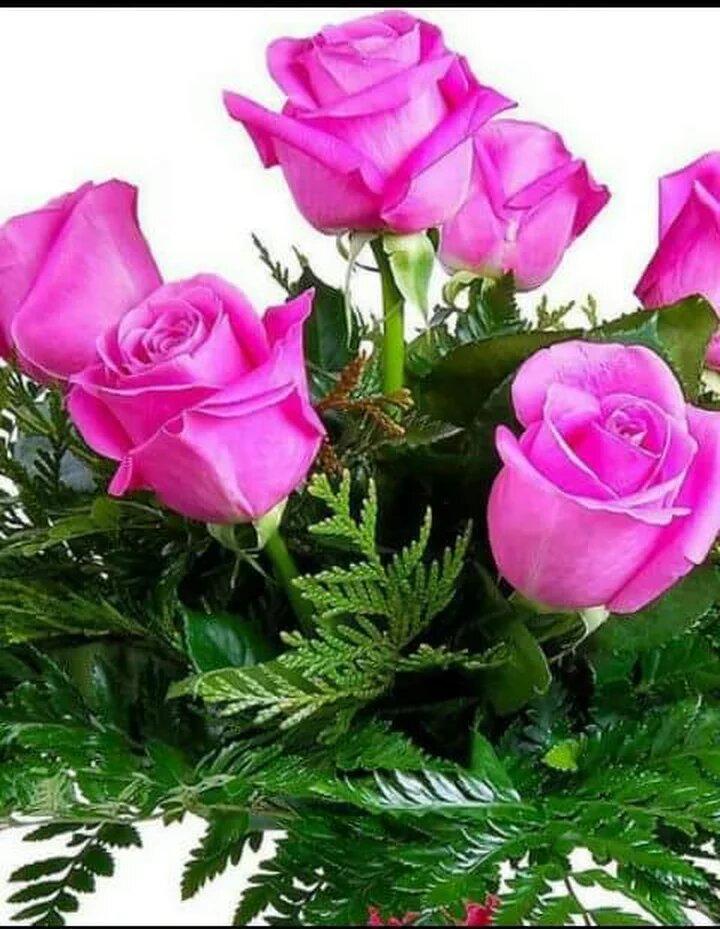 Открытка с розами подруге