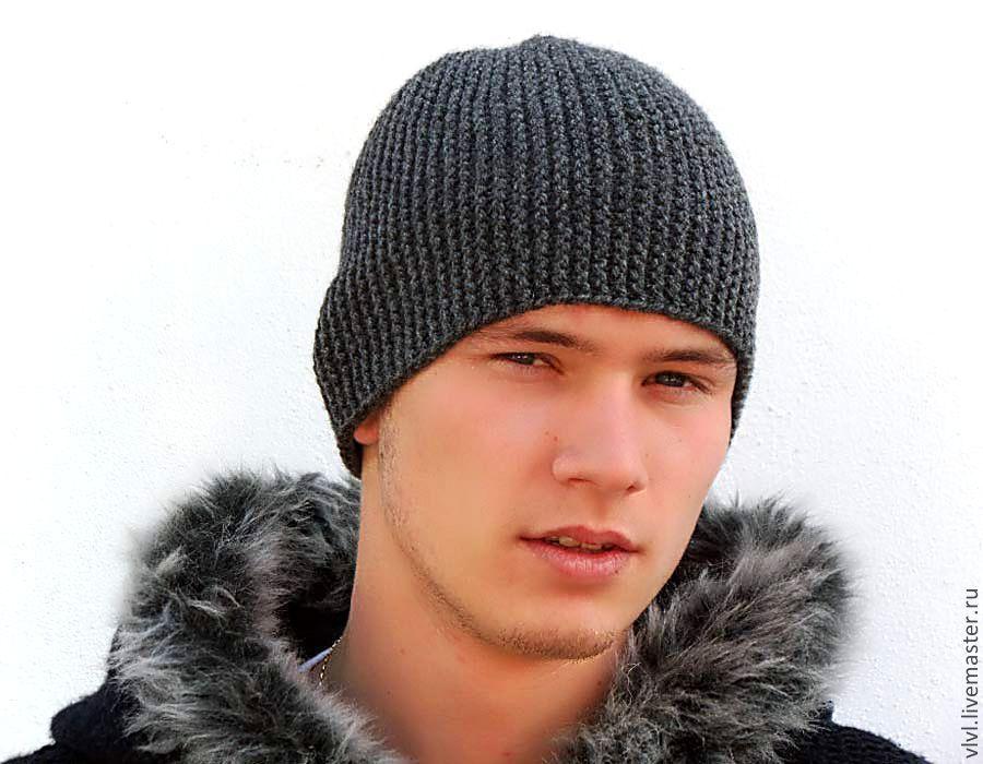 фото шапки вязаные мужские