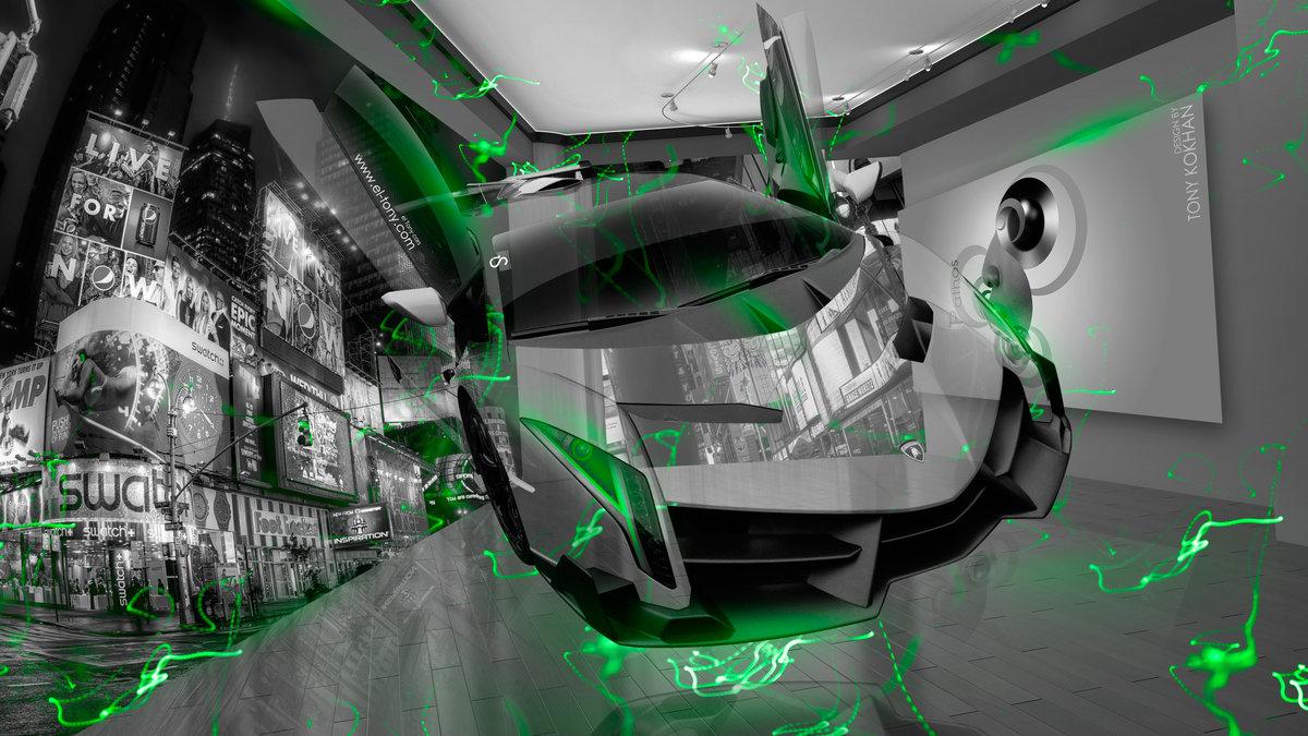 Lamborghini Veneno Fantasy Crystal Home Fly City Energy