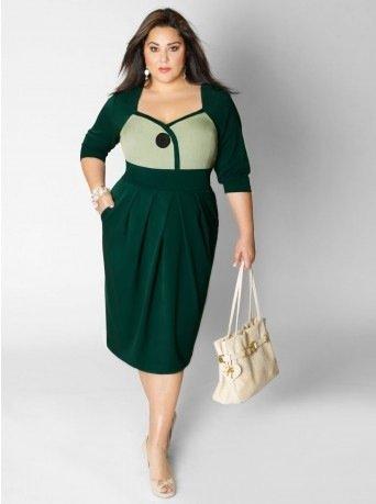 Удачный фасон платья для полных