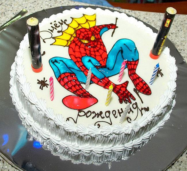 Картинки тортов на день рождения для мальчиков, поздравлением