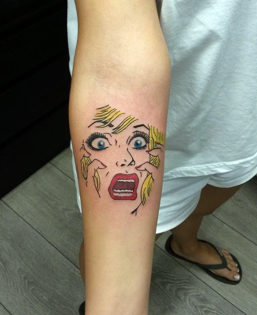 pop art tattoo tumblr - HD861×1056