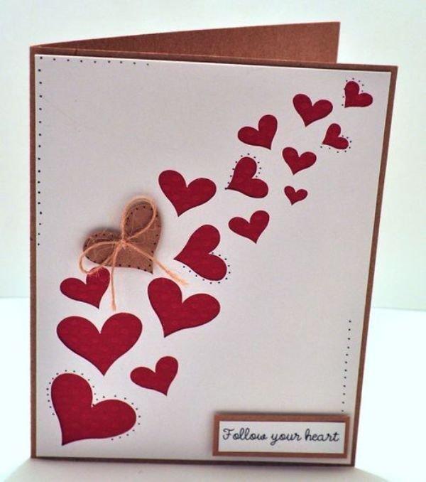 сердце открытка пошагово брянской