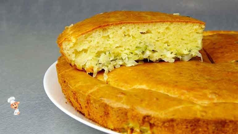 Капустный пирог быстрого приготовления