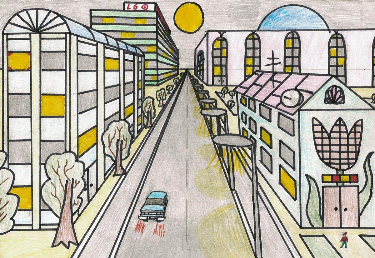 рисунок на тему моя улица день твоих друзей