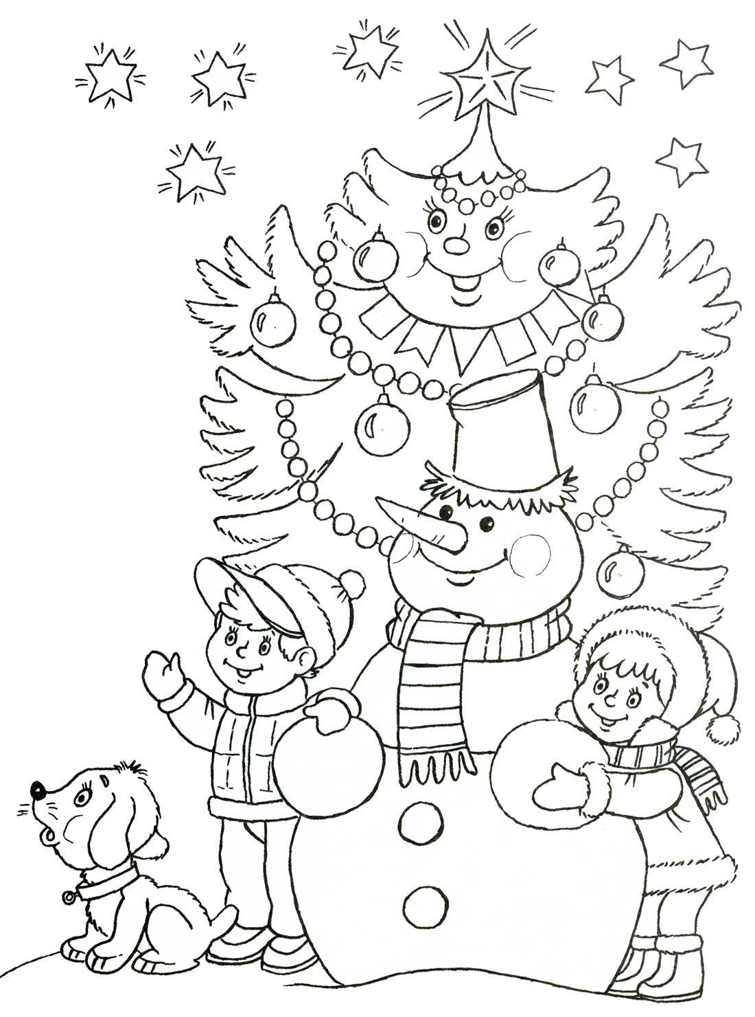 Раскраски новогодняя тематика, бульдог прикольные рисунки