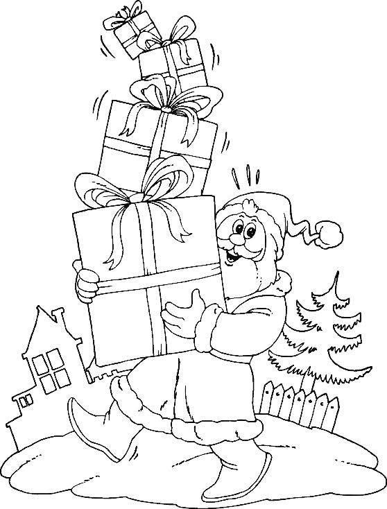 Эскиз новогодней открытки другу