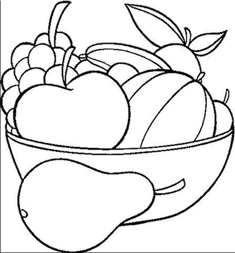 как корзина с фруктами картинка для раскрашивания сочетание несочетаемого завораживает