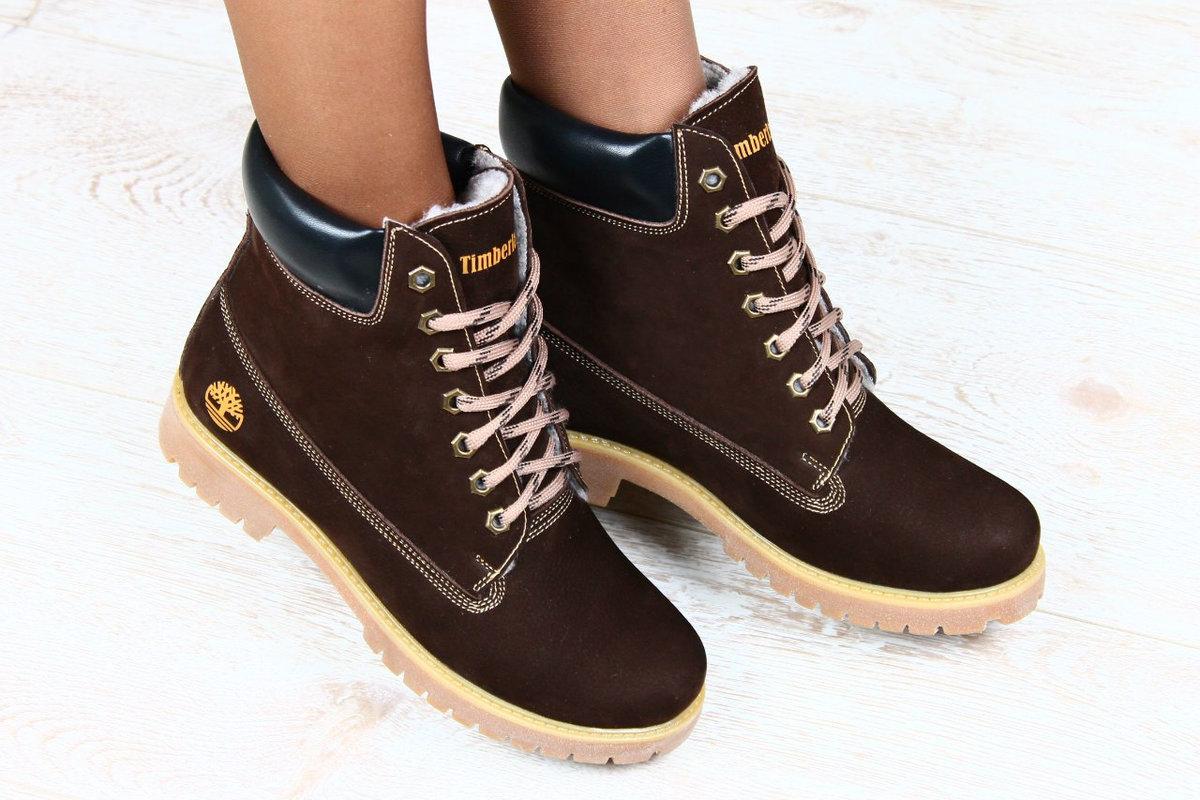 9184af72852f Зимние женские Ботинки Timberland коричневые стильные и прекрасные ...