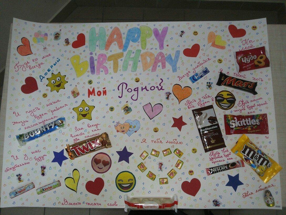 креативное поздравление подруге с днем рождения плакат при