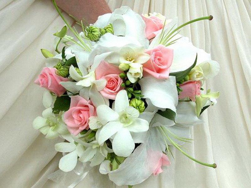 Букет из лилий на свадьбу