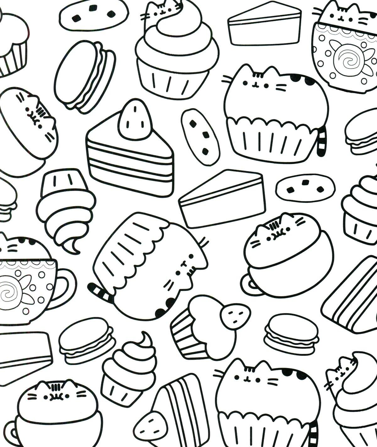 Картинки еды наклейки черно белые