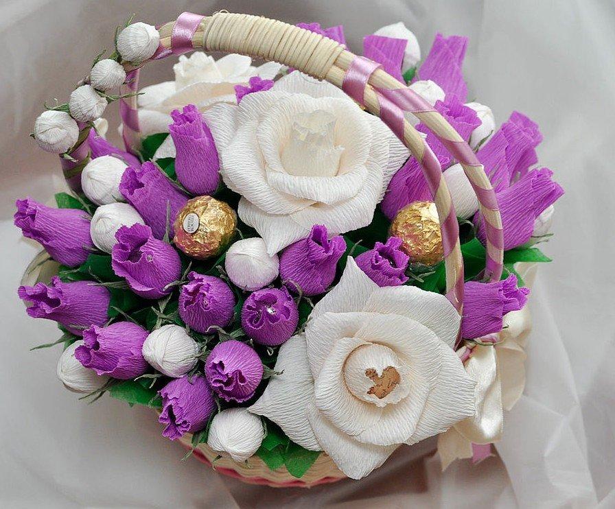 Букеты из конфет фото красивые, весной для подруги