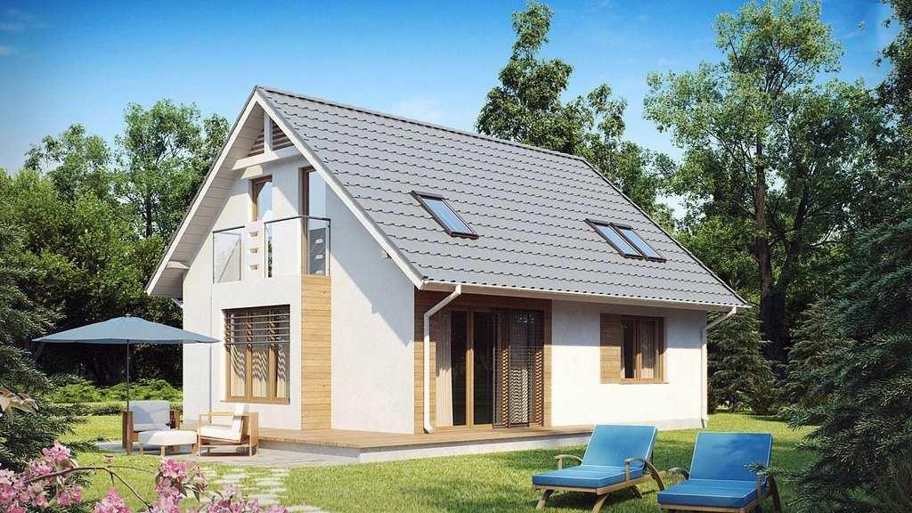 проекты небольших домов с мансардой из пеноблоков