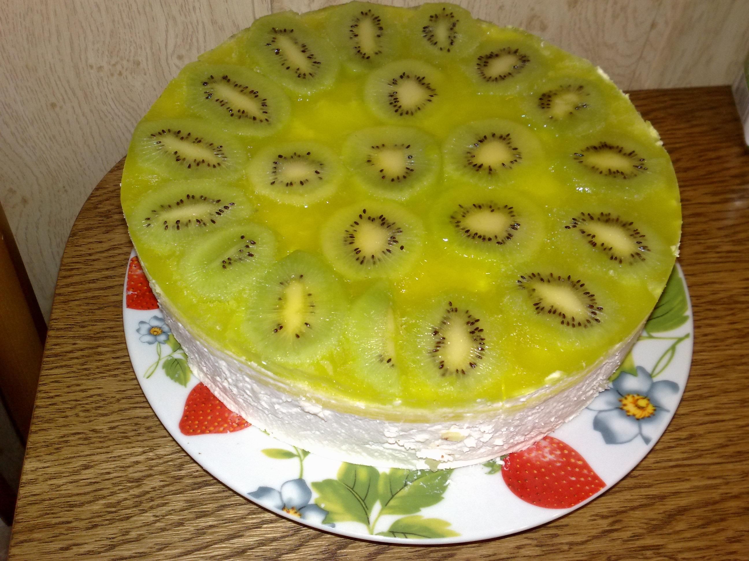 Бисквитный торт с киви и бананом рецепт с фото пошагово и 5