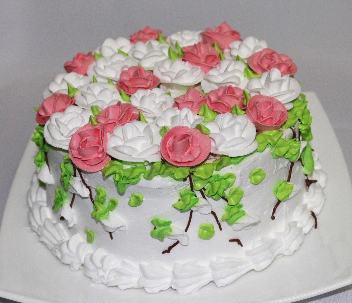 она белковый крем цветы украшение торт фото хочет