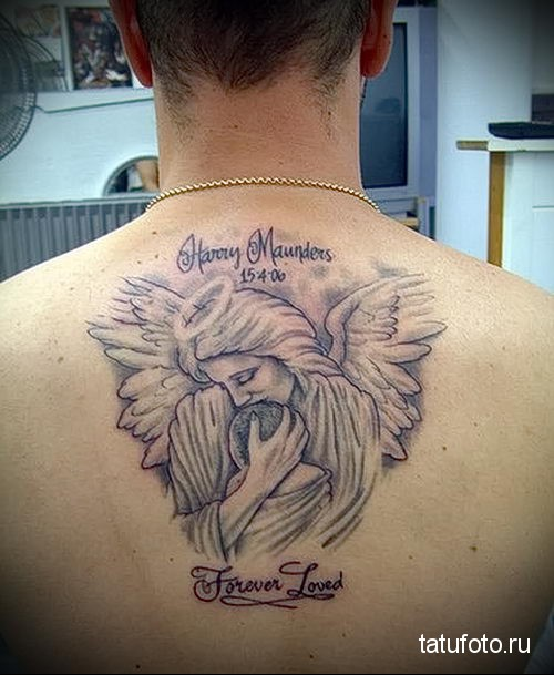 ангел хранитель тату фото