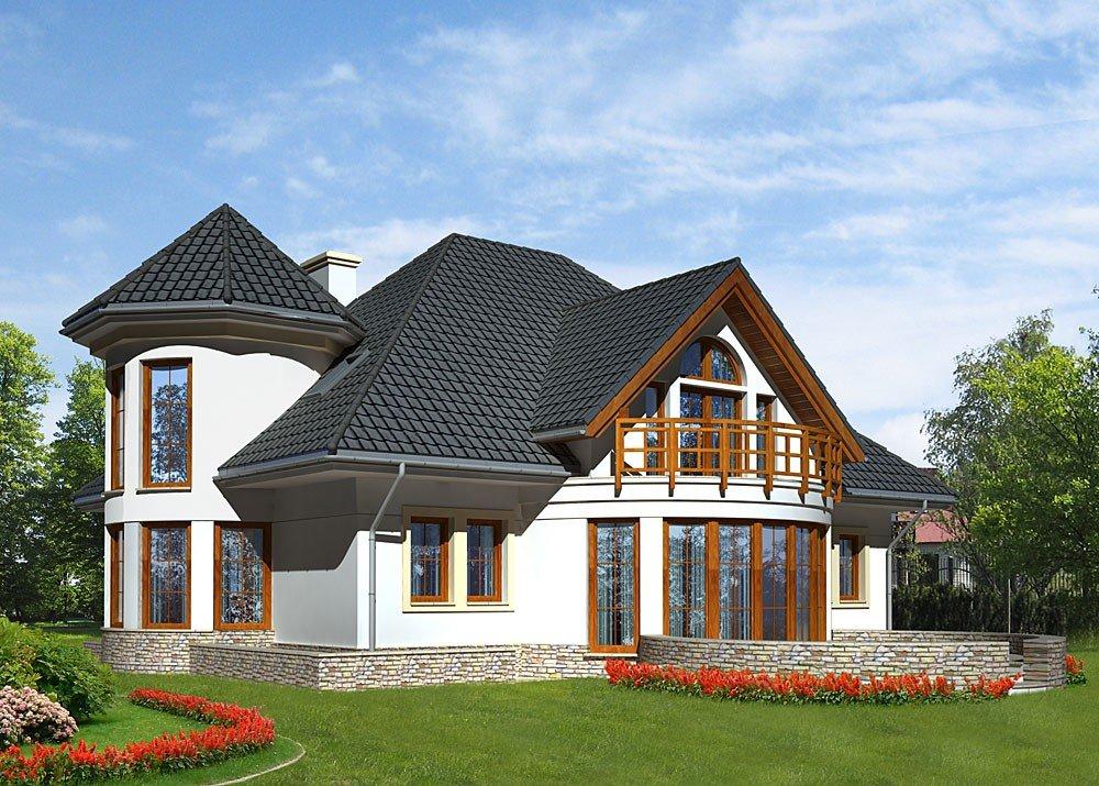 Фото домов эркерами и балконами