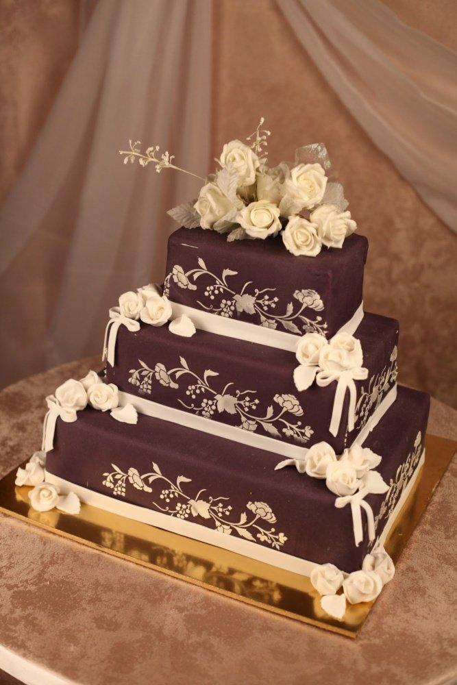 свадебные торты фото квадратные