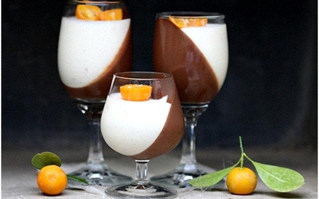 Апельсиновая Панна -Котта С Шоколадом