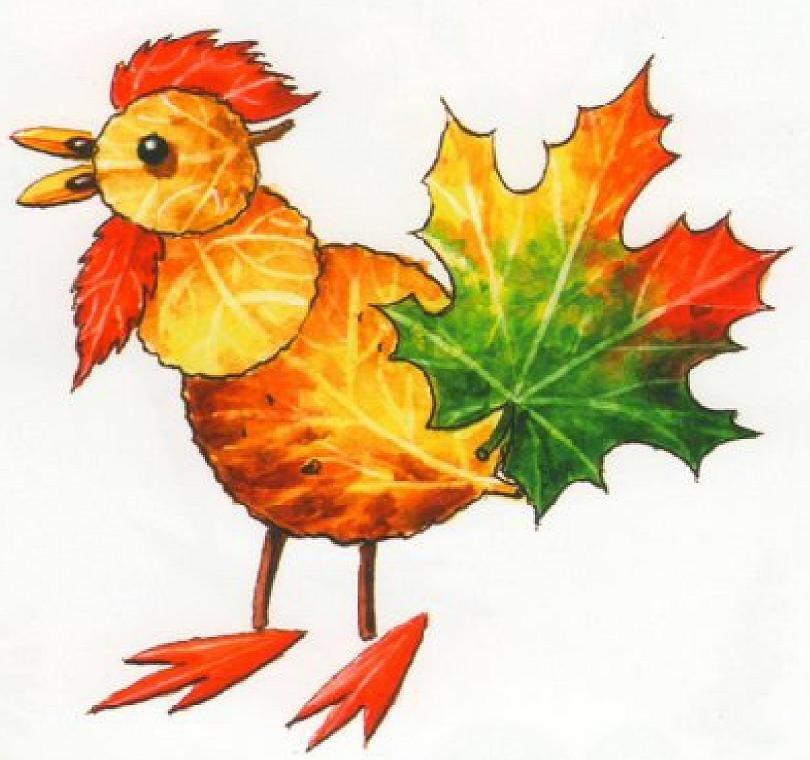 Картинки из осенних листьев своими руками для детского сада, красивые
