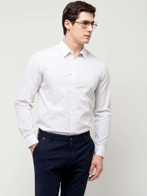 bfb08c5eb0c5824 ... Классическая белая мужская рубашка с длинным рукавом 2017 от Sela