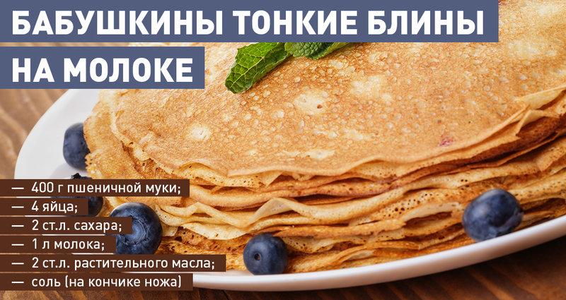 Блины на молоке рецепты с фото на RussianFoodcom 719