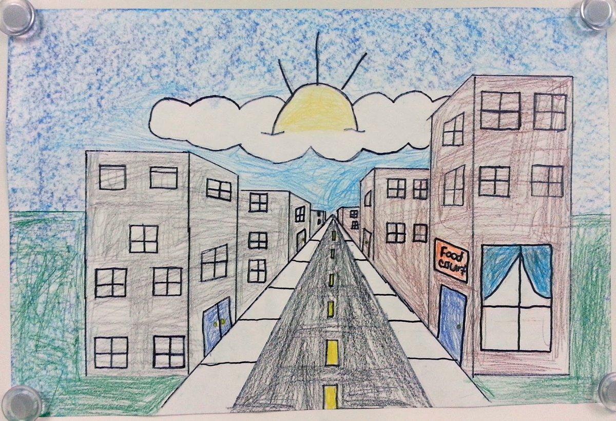 профессионалов рисунок про город желании можно