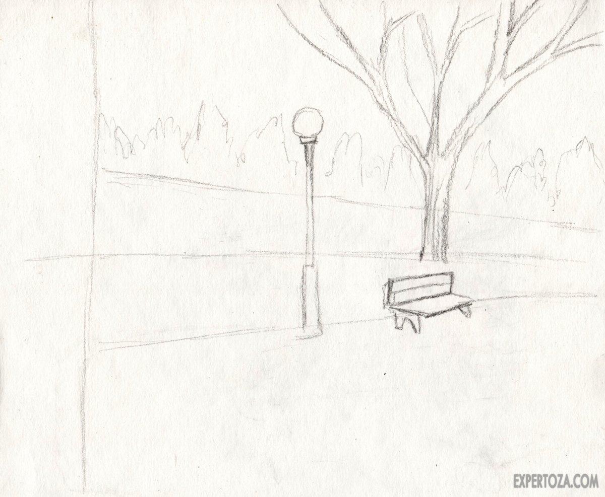 можете рисунки простым карандашом поэтапно пейзаж что
