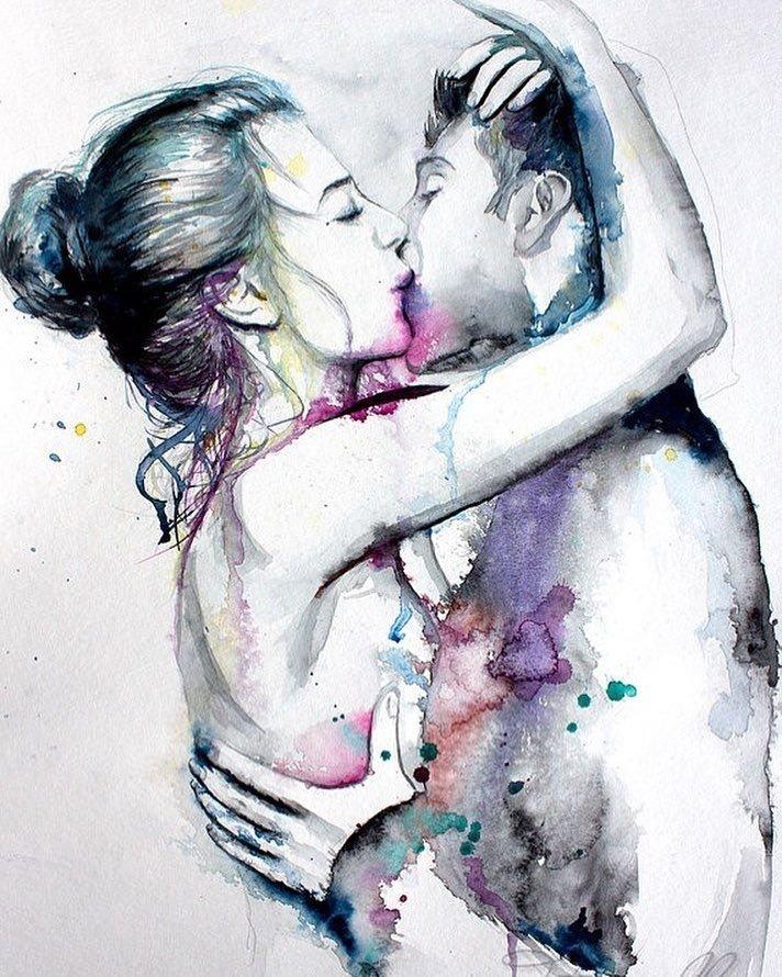 Красивые картинки мужчина и женщина любовные нарисованные