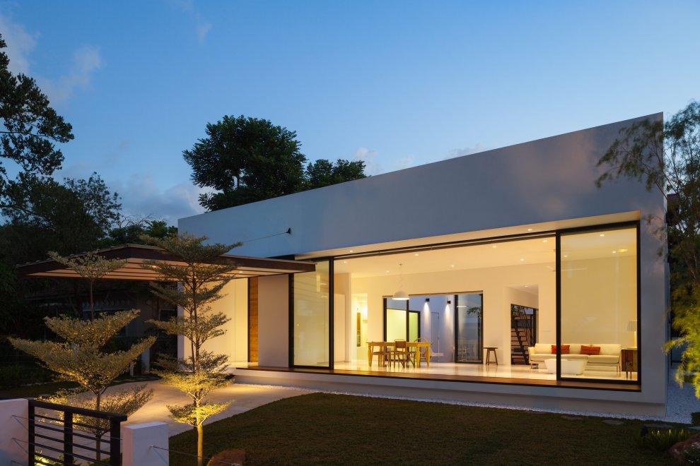 одноэтажные дома без крыши фото очень