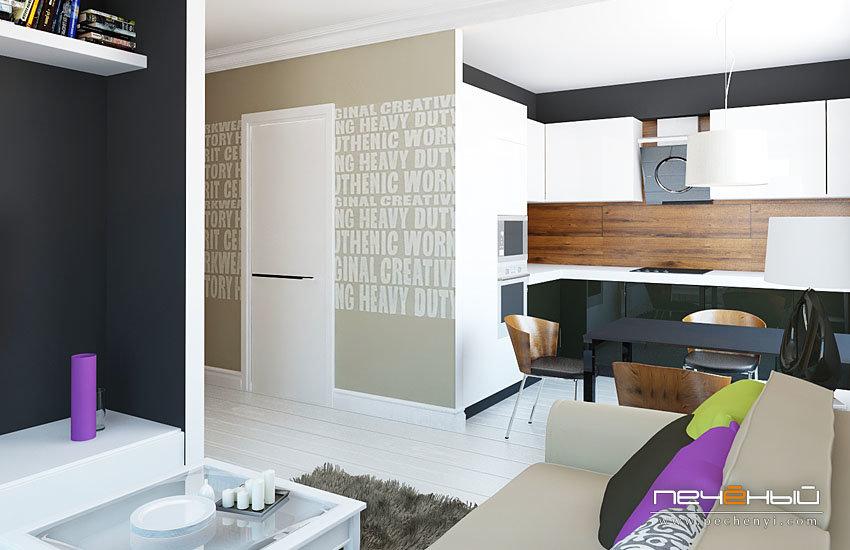 Квартира-студия, гостиная-кухня, дизайн... / мода / дизайн к.