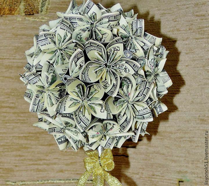Открытка из денежных купюр своими руками, открытки скучаю