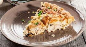 Легкий диетический пирог с курицей