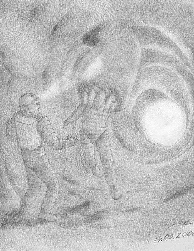 Картинки космоса нарисовать карандашом