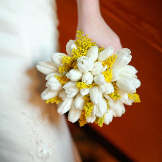 Букет невесты из мимоза, букет