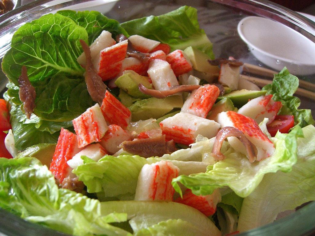 урок, крабовый салат с авокадо рецепт фото овальном лице отлично