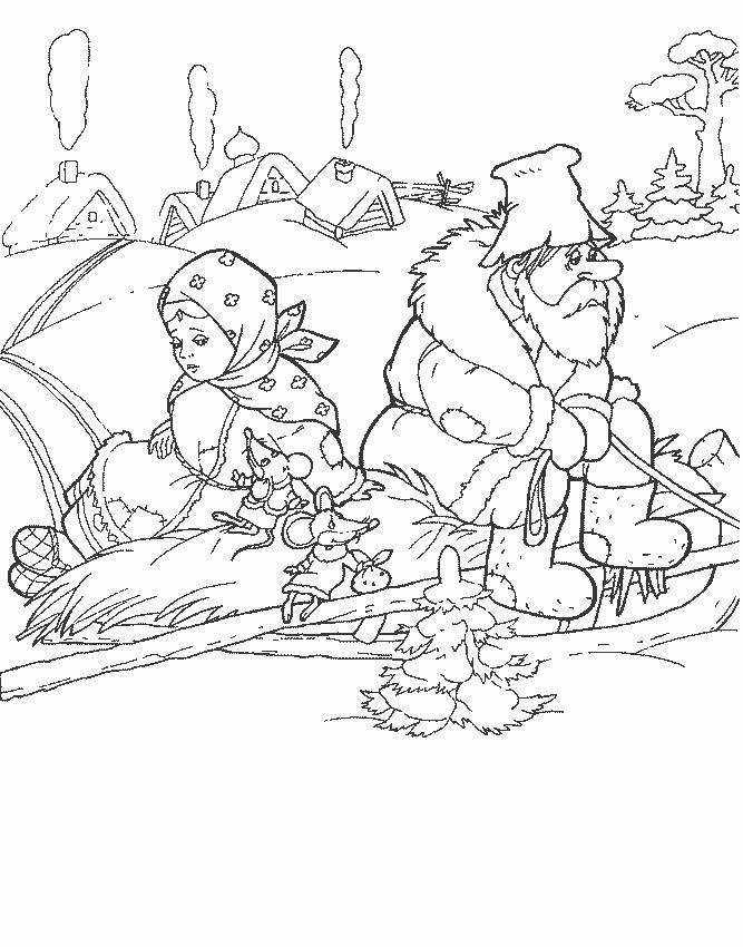 рисунок из сказки морозко карандашом только