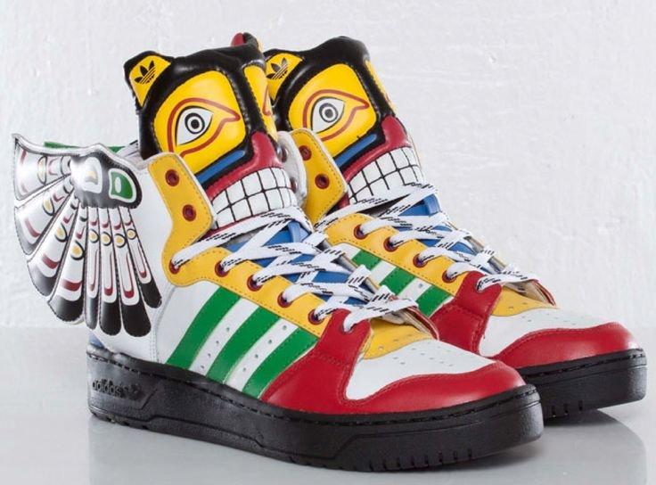 Adidas Jeremy Scott Totem Eagle Wings Shoes  jeremyscott  shoes ... Adidas  Jeremy 4c55655e4c90
