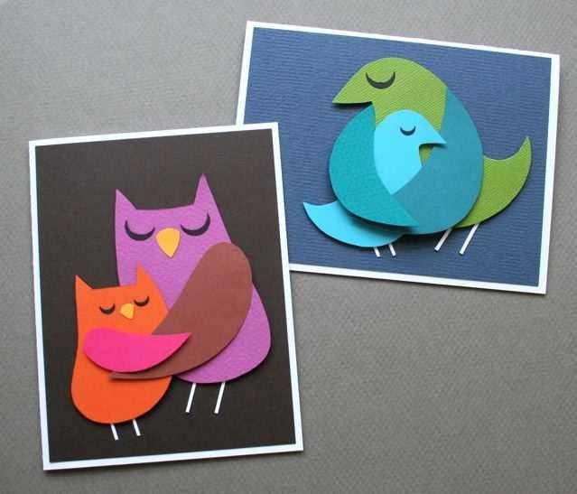 Поделки с детьми открытки из бумаги