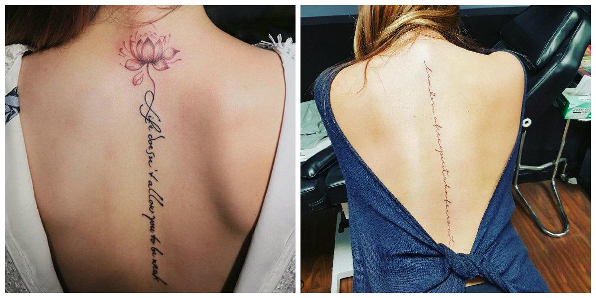 Artistas Modernos De Tatuajes Columna Vertebral Mujer Crean Arte
