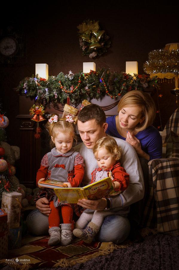 Рождественские картинки семьи