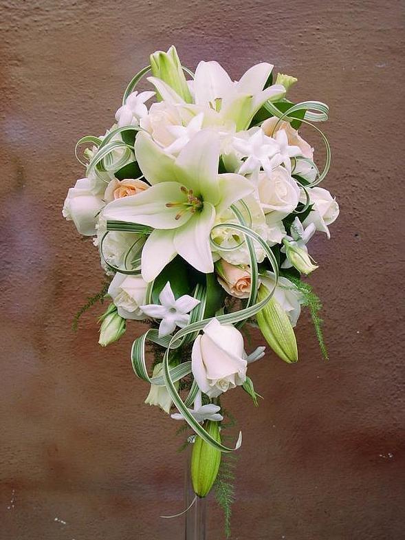 Букет, свадебные букеты из белых лилий