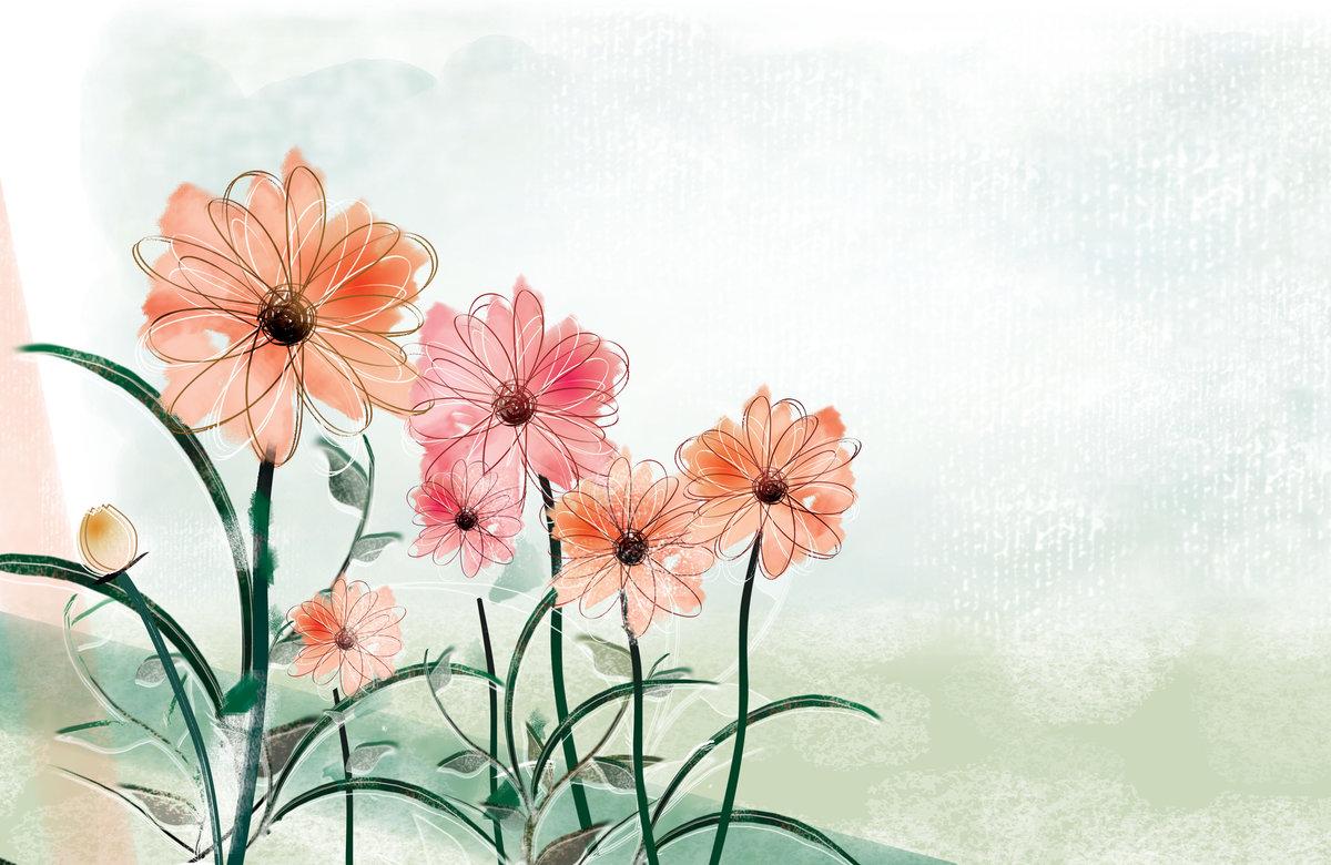 Посадки картинки, картинка с цветами нарисованная