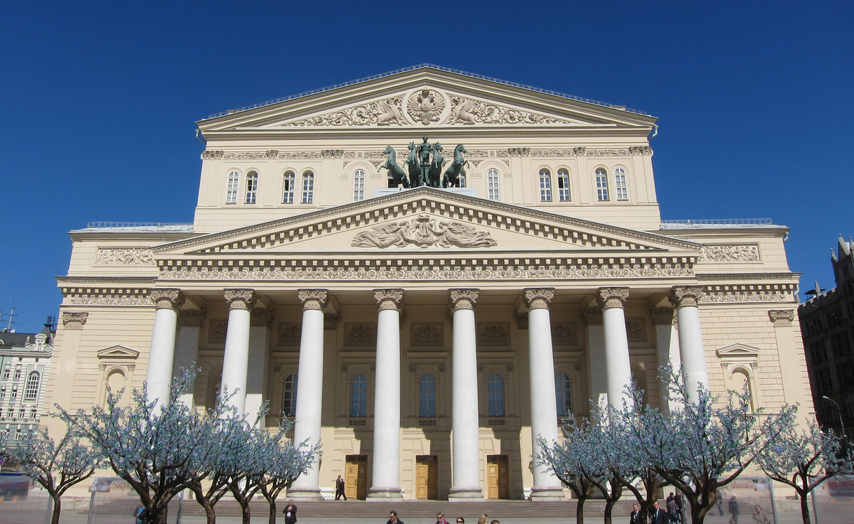 Картинки достопримечательностей москвы большой театр