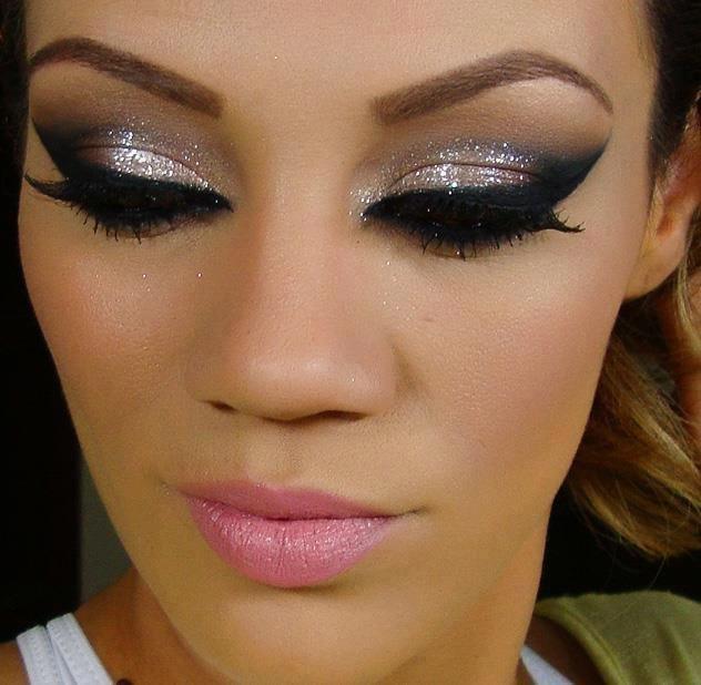 вечерний макияж с нарощенными ресницами фото универсальный