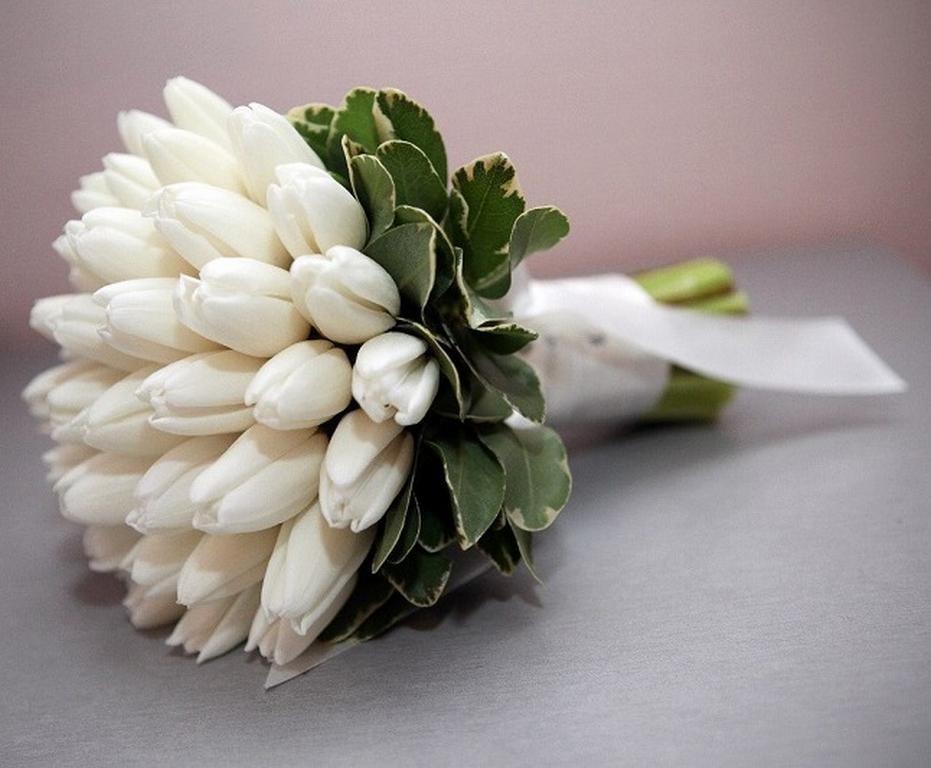 Букет невесты из маленьких тюльпанов фото, цветов