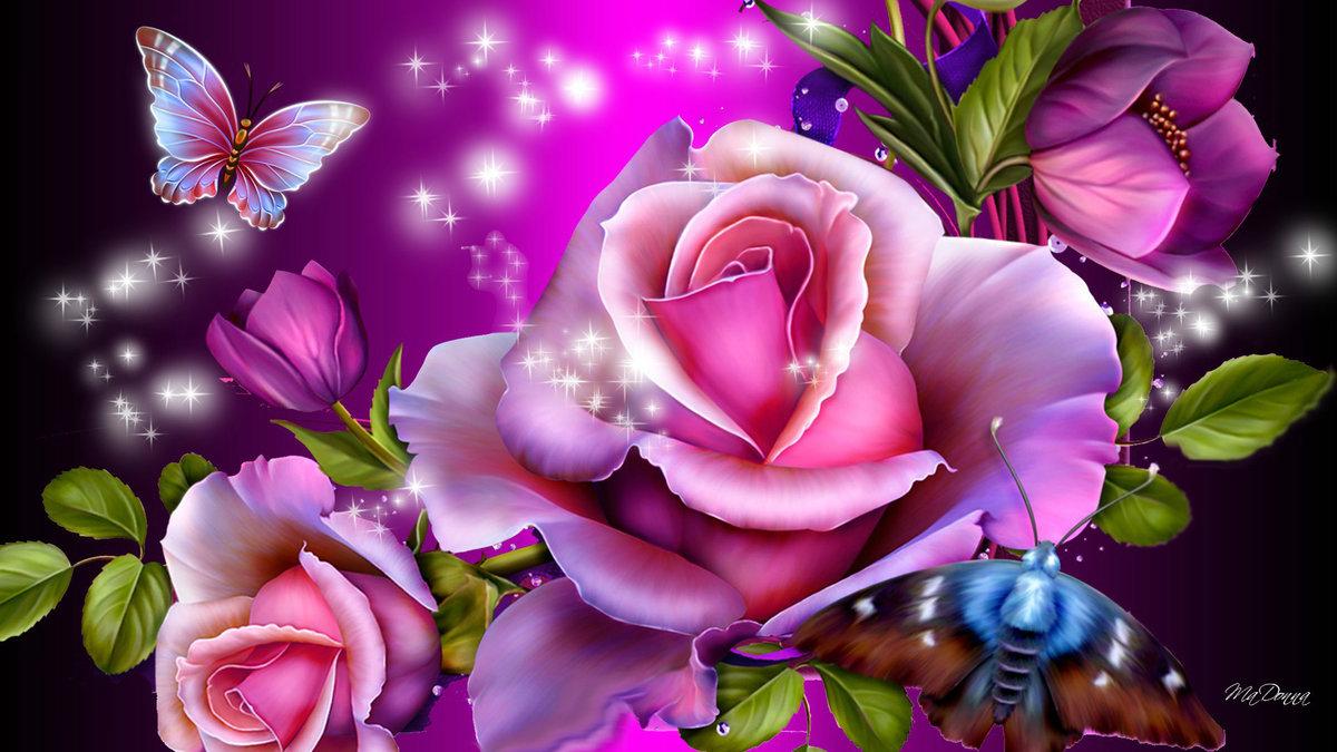 Люблю, открытки мерцающие цветы красивейшие