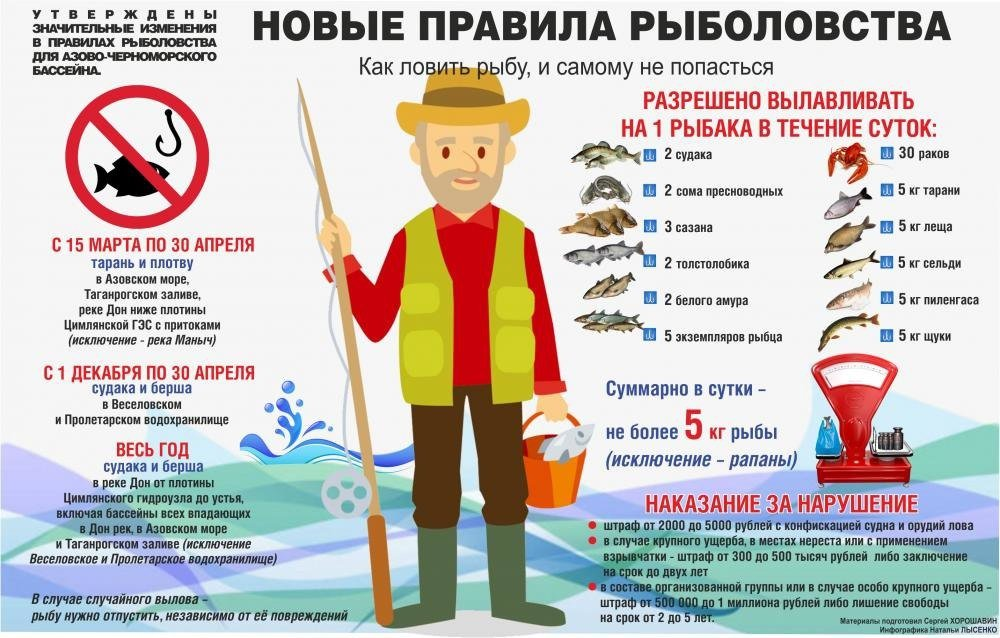 Ограничения ловли рыбы 2019
